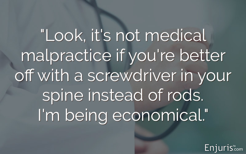 medical malpractice: doctor, stethoscope