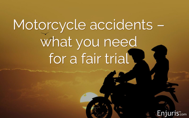 Motorcycle riders, accidents