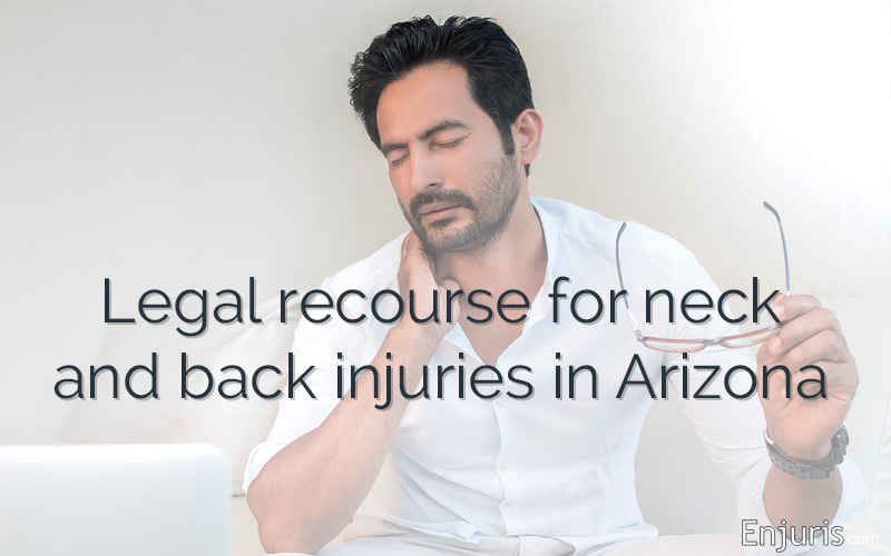 Neck and back pain injuries in Arizona