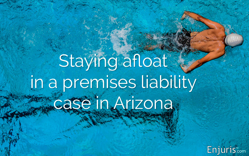 Swimming pool accident liability in Arizona