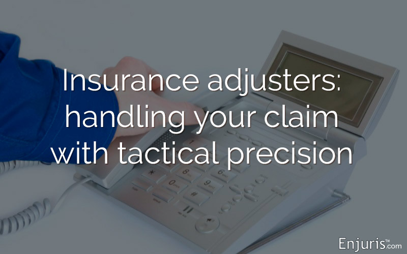 insurance adjuster telephone receiver
