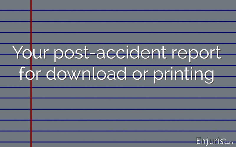 Your post-accident journal for download or printing