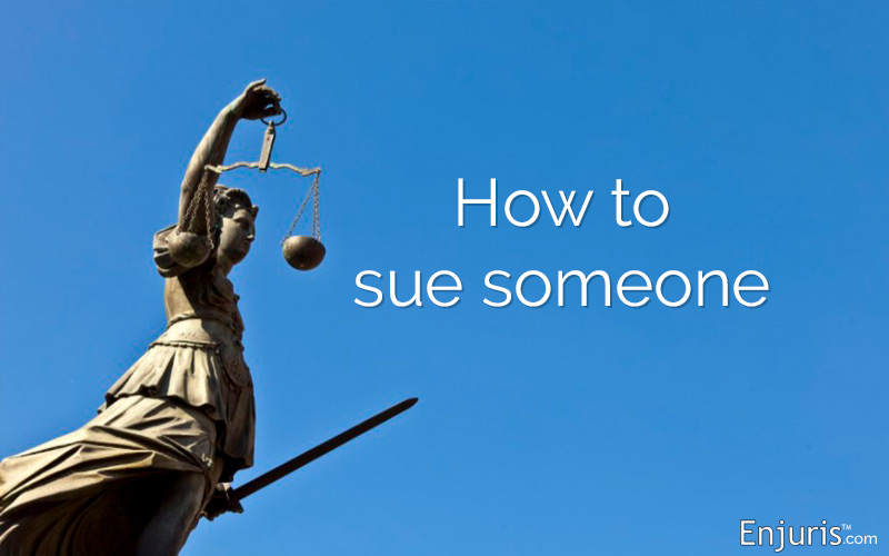 How to sue someone