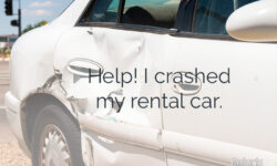 How Should I Handle an Auto Accident in a Rental Car?