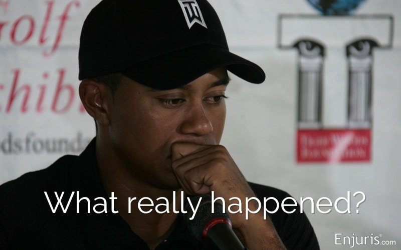 Tiger Woods' single-vehicle crash