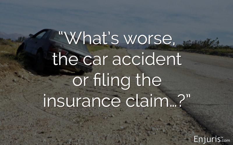 filing insurance claim after car accident