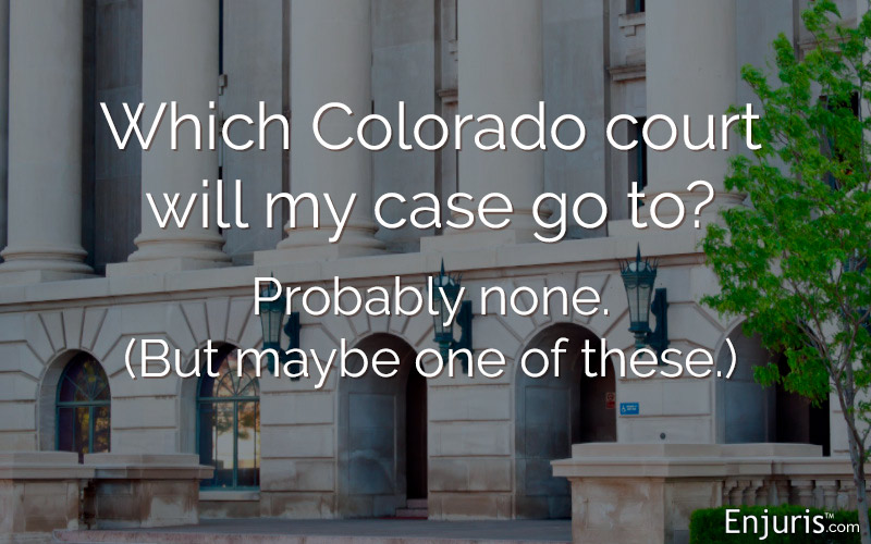Which Colorado court will my case go to? Probably none. (But maybe one of these.)