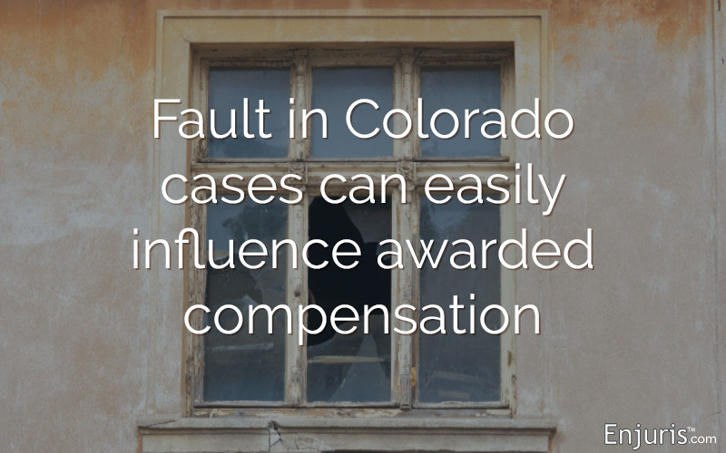 Fault in Colorado cases can easily influence awarded compensation