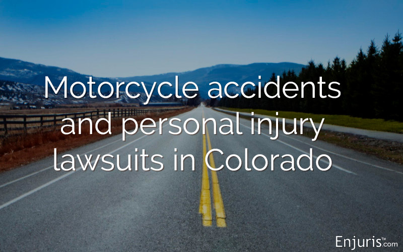 Motorcycle accidents and personal injury lawsuits in Colorado