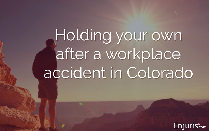 Workers' compensation injury: Holding your own after a workplace accident in Colorado