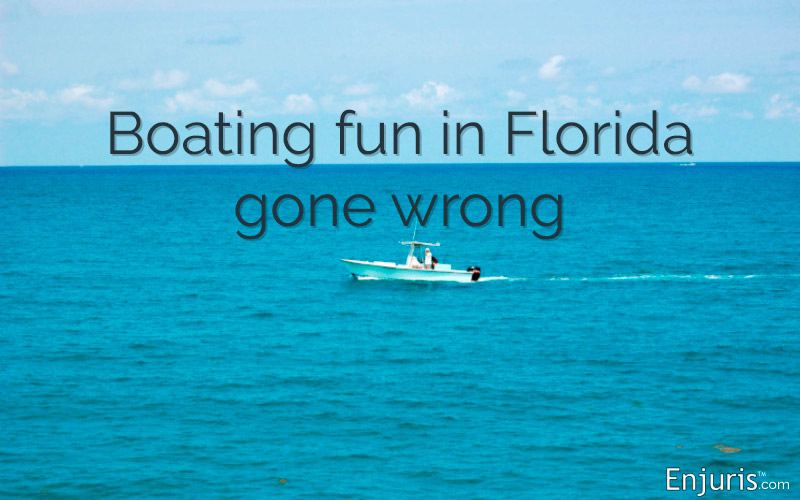 Boating fun in Florida gone wrong, accident law
