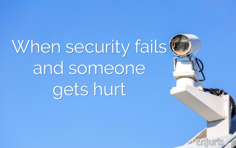 CCTV security camera guard negligent