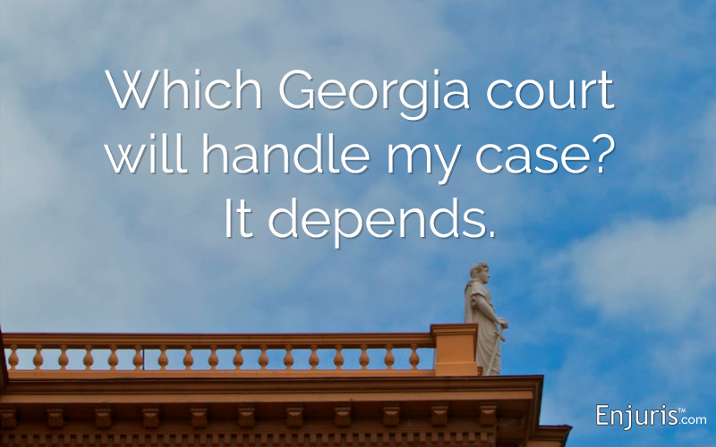 Lawsuits in Georgia Courts - from Enjuris.com, a personal injury attorney directory