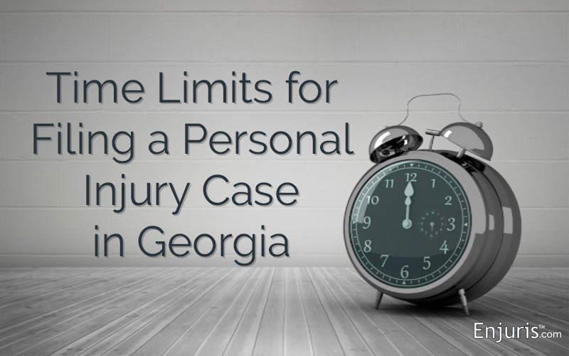 Time Limits for Filing Suit in Georgia - from Enjuris.com, a personal injury attorney directory