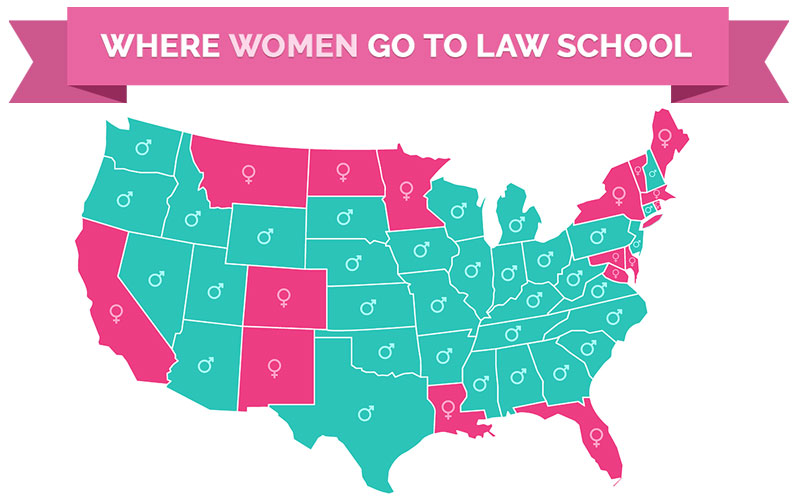 Where do women go to law school? Find out!