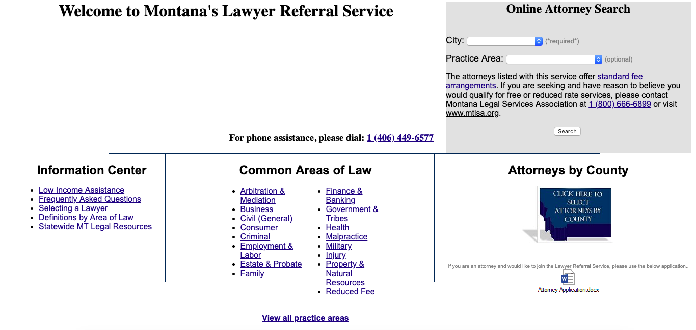 MT lawyer referral service