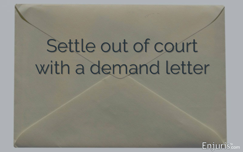 settle out of court with a demand letter
