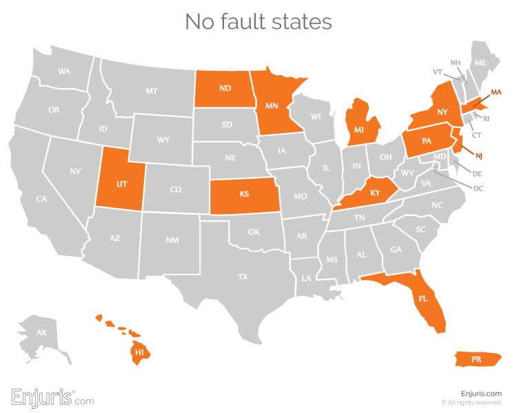 which states have no-fault auto insurance laws?