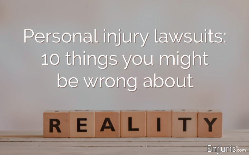 Personal injury lawsuits: 10 things you might not know