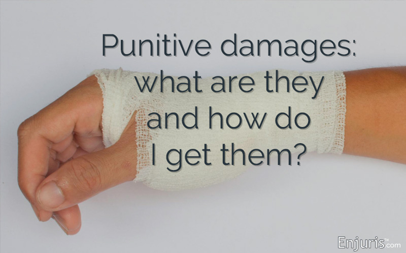 Are punitive damages available in a personal injury lawsuit?