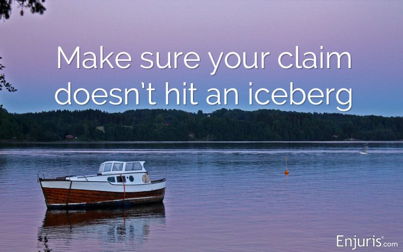 Filing a claim based on a boating accident