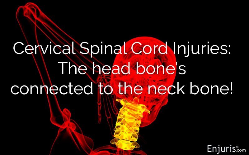 Cervical Spinal Cord Injuries from Accidents