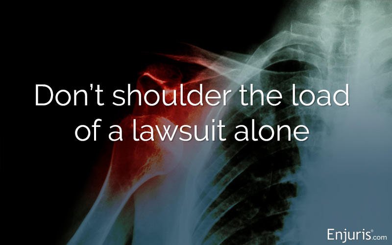 Shoulder injuries and personal injury lawsuits
