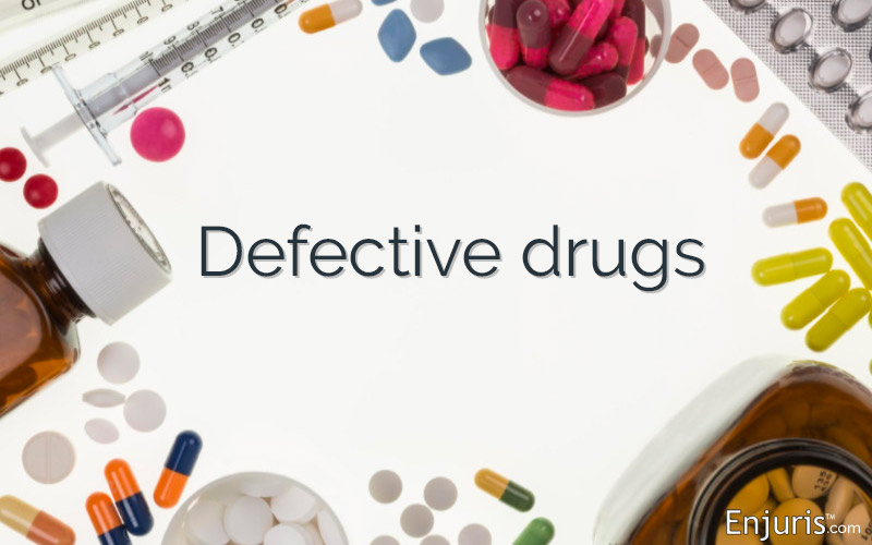 Who is responsible for defective drugs?