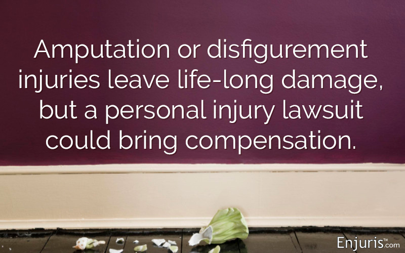 Amputation or disfigurement injuries leave life-long damage, but a personal injury lawsuit could bring compensation.