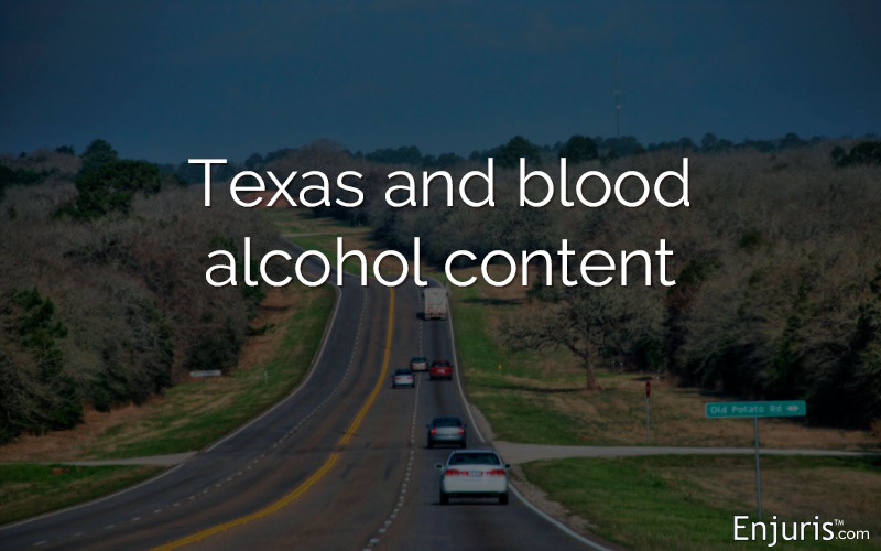 blood alcohol content road texas
