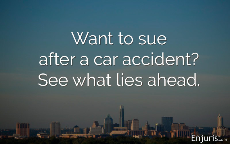 Filing a lawsuit after a car crash in Texas