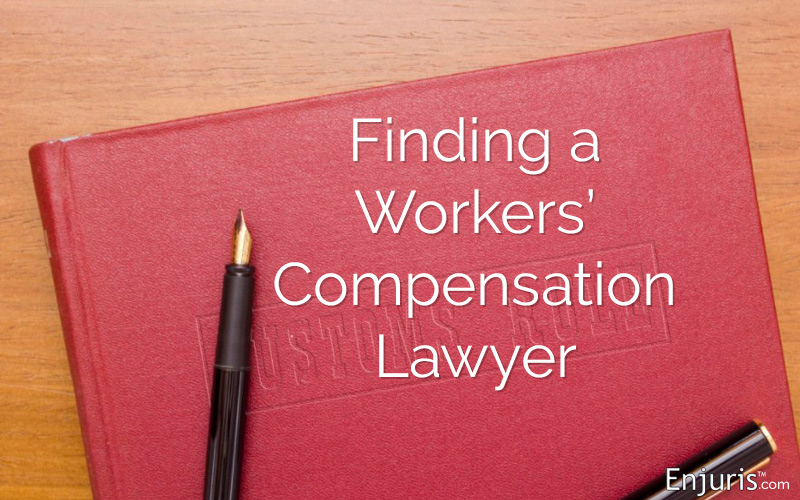 Finding a Workers' Comp Lawyer  - from Enjuris.com, a personal injury attorney directory